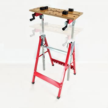 Dirty Pro Tools™ Height Adjustable Tilt And Clamp Folding Work Bench  Workmate Workbench Saw Trestle