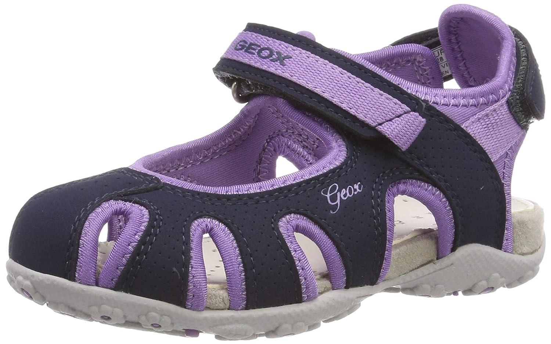 587bc191759685 Amazon.com | Geox Kids' Roxanne 42 Denim Studded High Top Sneaker with Zip  Sport Sandal | Sandals