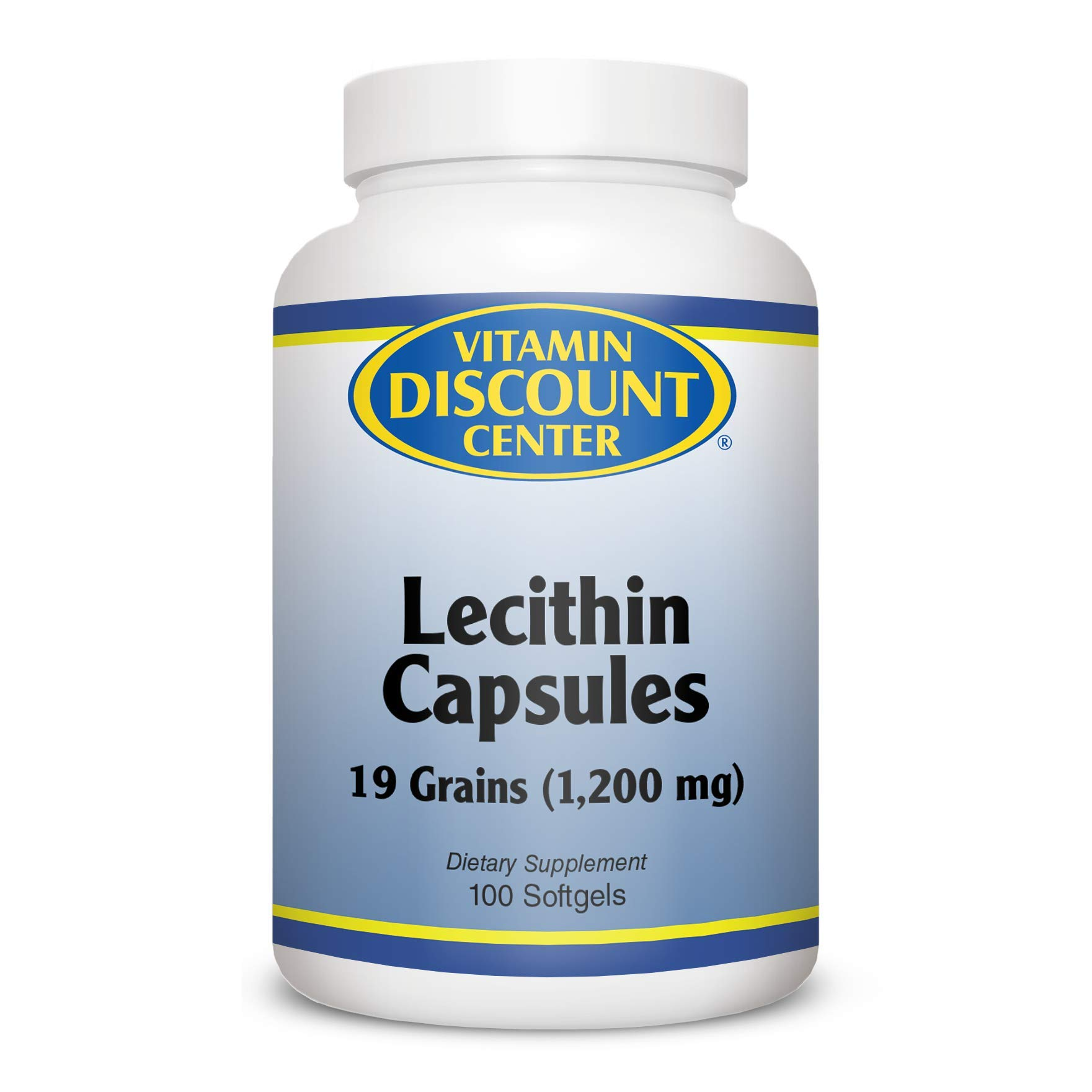 Vitamin Discount Center Lecithin 1200mg, 100 Softgels