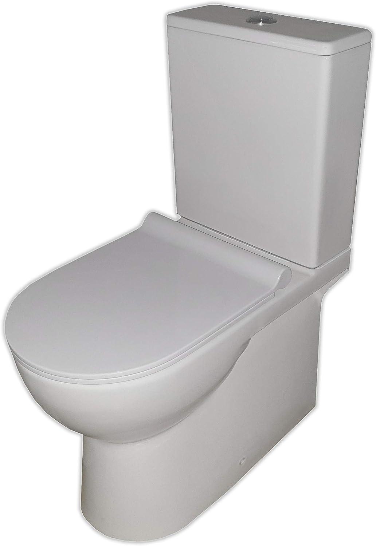 Pack WC de Inodoro Vintage compacto adosado a la pared con salida ...