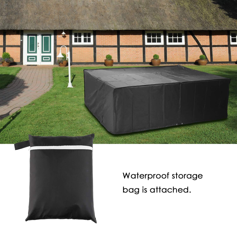 Patio Quadrato Durevole Copritavolo per impieghi gravosi Resistente ai Raggi UV Impermeabile al 210D Oxford/Coprisedili mobili Esterno,120x120x74cm SUNDUXY Copri Tavolo da Esterno