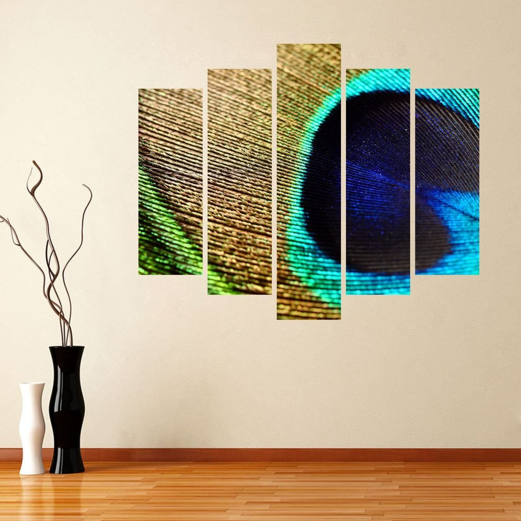 Buy Impression Wall Decor Peacock Feather Wall Cut Outs Sticker Online At Low Prices In India Amazon In
