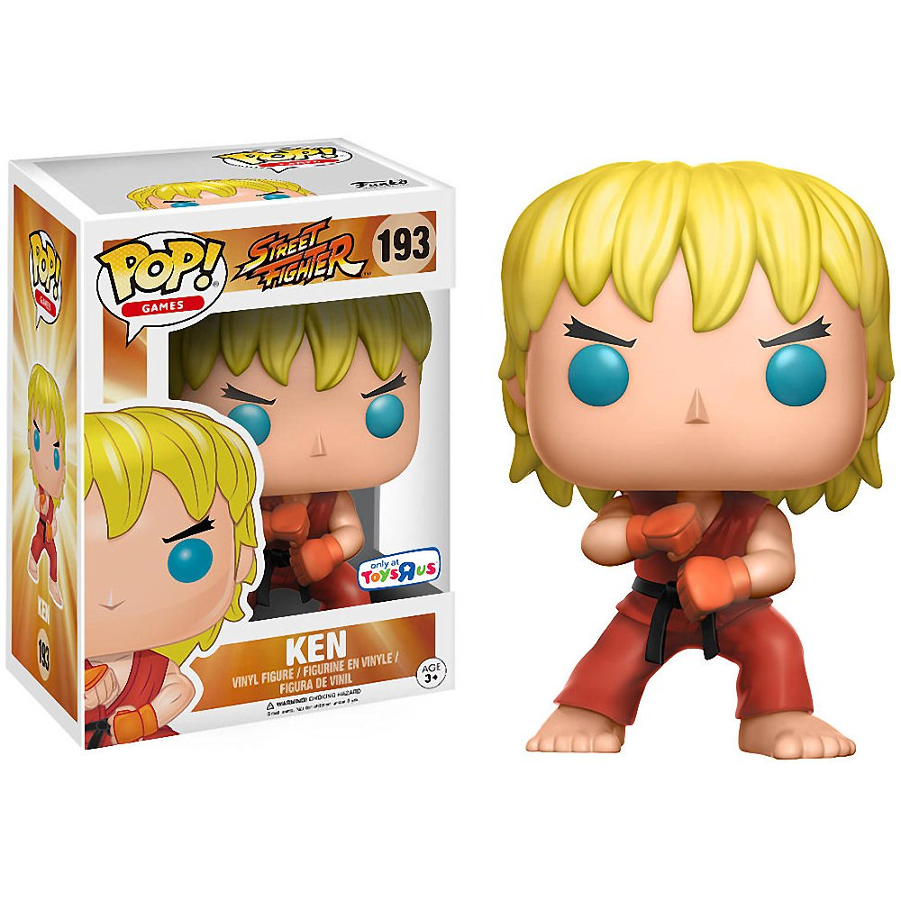 Games x Street Fighter Vinyl Figure 1 Free Video Games Themed Trading Card Bundle Toys R Us Exclusive 12268 BCC9Q3009 Funko Ken POP