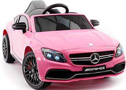 Amazon Com 2021 Mercedes Benz Kids Ride On Car 12v Licensed Electric Cars Motorized Vehicles For Girls Remote Control Leather Seat Music Lights Pink 2 To 5 Years Toys Games