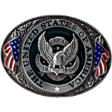 Buckle Rage Belt Buckle Oval Eagle The United States Of America