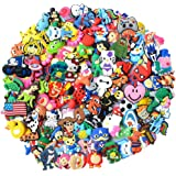 Bokcharms 100pcs Random Different Shape Shoe charms for Clog Shoes Wristband Bracelet Party Gifts