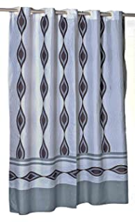 Harlequin EZ On Hookless Fabric Extra Long Shower Curtain With Built In Hooks
