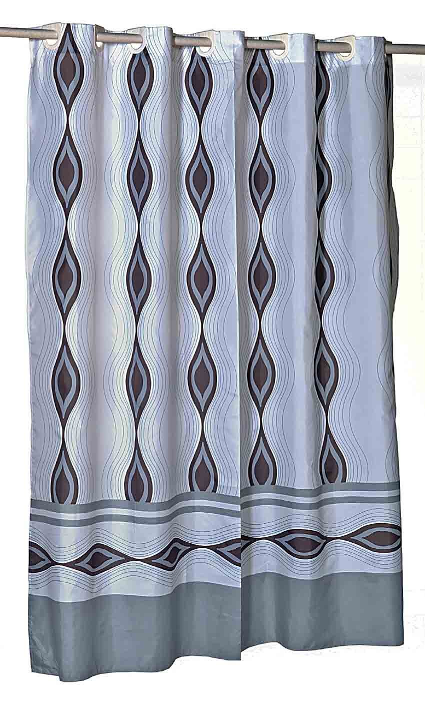 Amazon.com: Blue Note EZ On Hookless Fabric Stall Shower Curtain ...