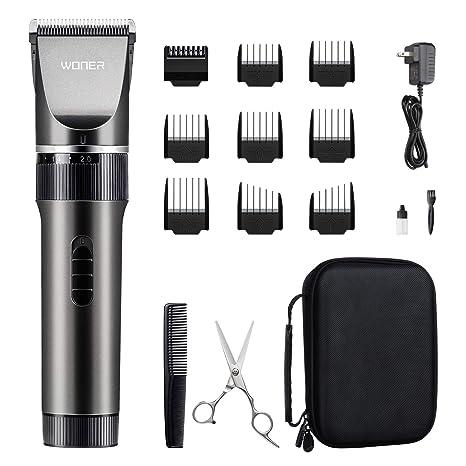 Amazon.com  WONER Hair Trimmers, Quiet Cordless