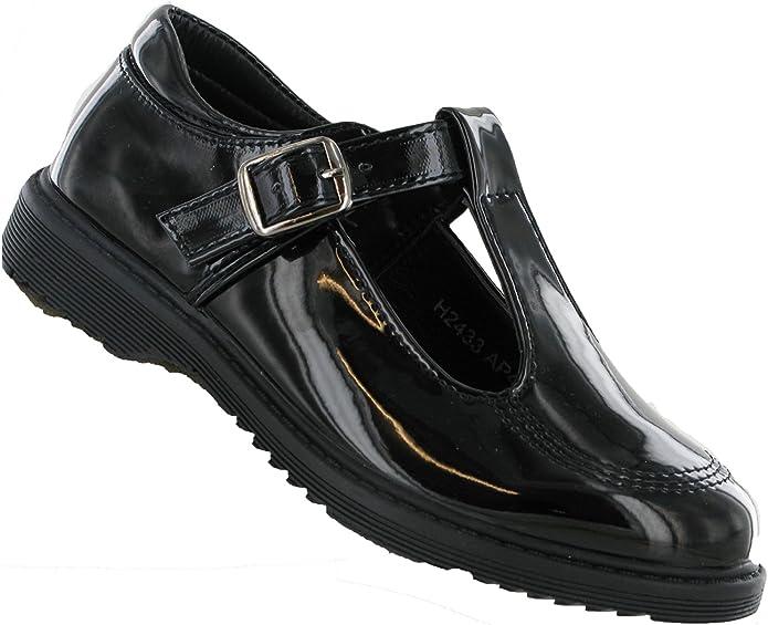 Girls Cool 4 School Black Synthetic T Bar Shoe H2433