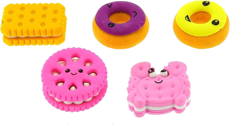 U.S Sharpeners Toy LM212 Cupcake Eraser 6 Piece