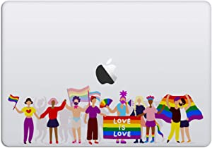 Laptop Stickers MacBook Decal - Removable Waterproof Vinyl -LGBTQ Pride Parades - Love is Love Decal Skin for Apple MacBook Air Pro 13 15 inch Mac Retina - Decorative Sticker by Artsybb
