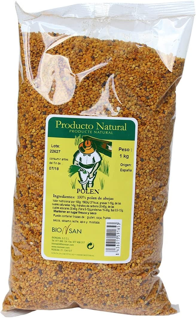Biosan Marma Granos de Polen de Abeja | Alto contenido en proteina | 1 Paquete 1000 gr