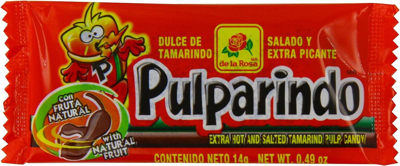 De La Rosa Pulparindo Dulce de Tamarindo | Salado y Extra Picante | Caja de 20 unidades: Amazon.es: Alimentación y bebidas