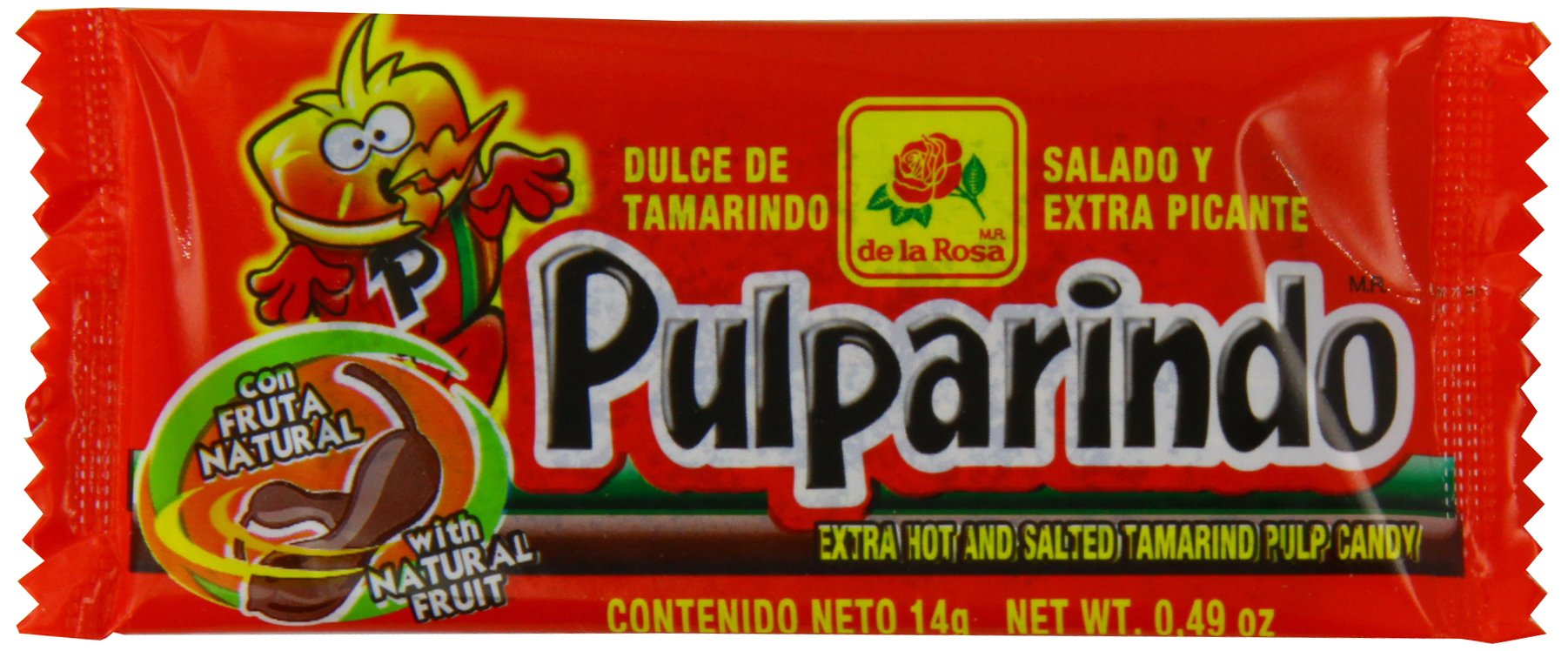 Pulparindo Extra Hot and Salted Tamarind Pulp Candy - 20 ct