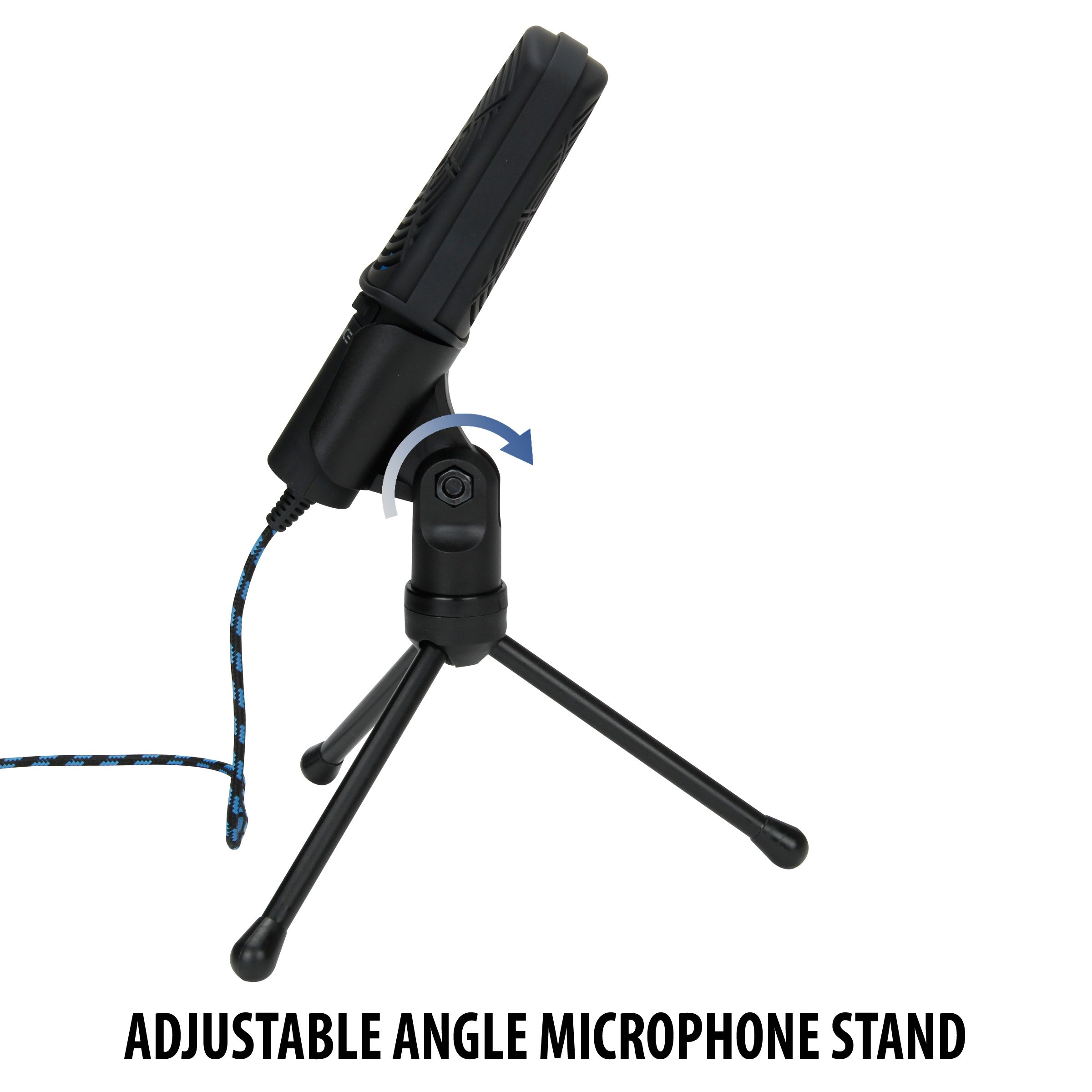 ENHANCE USB Condenser Gaming Microphone - Computer Desktop Mic for Streaming & Recording with Adjustable Stand Design and Mute Switch - For Skype, Conference Calls, Twitch, Youtube, and Discord - Blue by ENHANCE (Image #5)