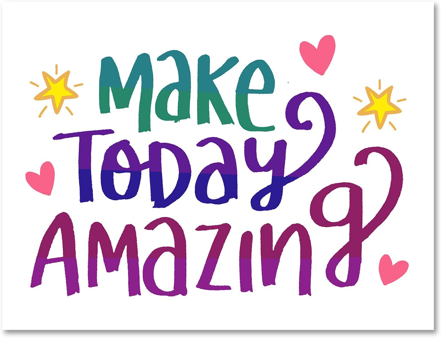 5.5x4.25 24 Pack Make Today Amazing Greeting Card Motivational Inspirational Cards Blank on the Inside Includes Cards and Envelopes