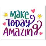 "Make Today Amazing Greeting Card - Motivational Inspirational Cards - Blank on the Inside - Includes Cards and Envelopes - 5.5""x4.25"" (24 Pack)"