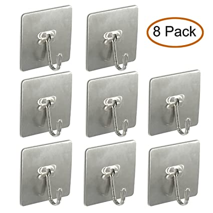 Amazon.com: Passionier Adhesive Hooks Heavy Duty Sticky Wall Hanging ...