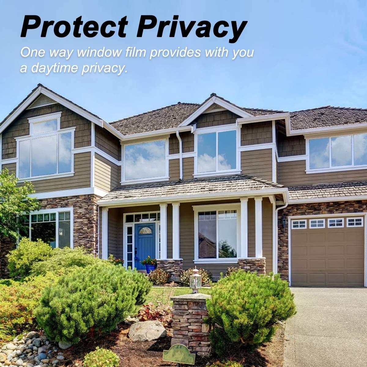 QXMCOV Pellicola Privacy Pellicola Smerigliata per Finestre Vetri-Autoadesive Grigio, 90x400cm