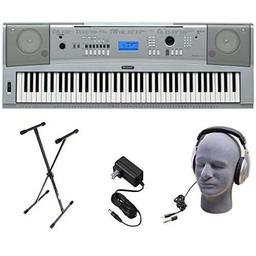 Yamaha Dgx230 76 Key Digital Piano Pack With Stand Power Supply And Headphones