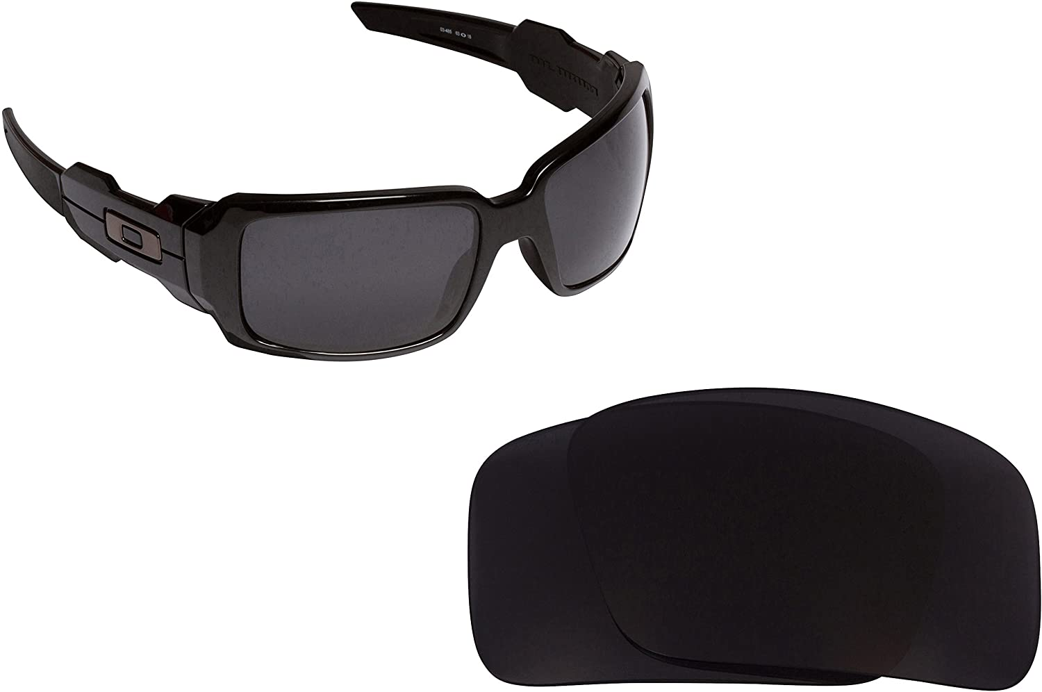 Oil Drum Replacement Lenses Polarized Black by SEEK fits OAKLEY Sunglasses
