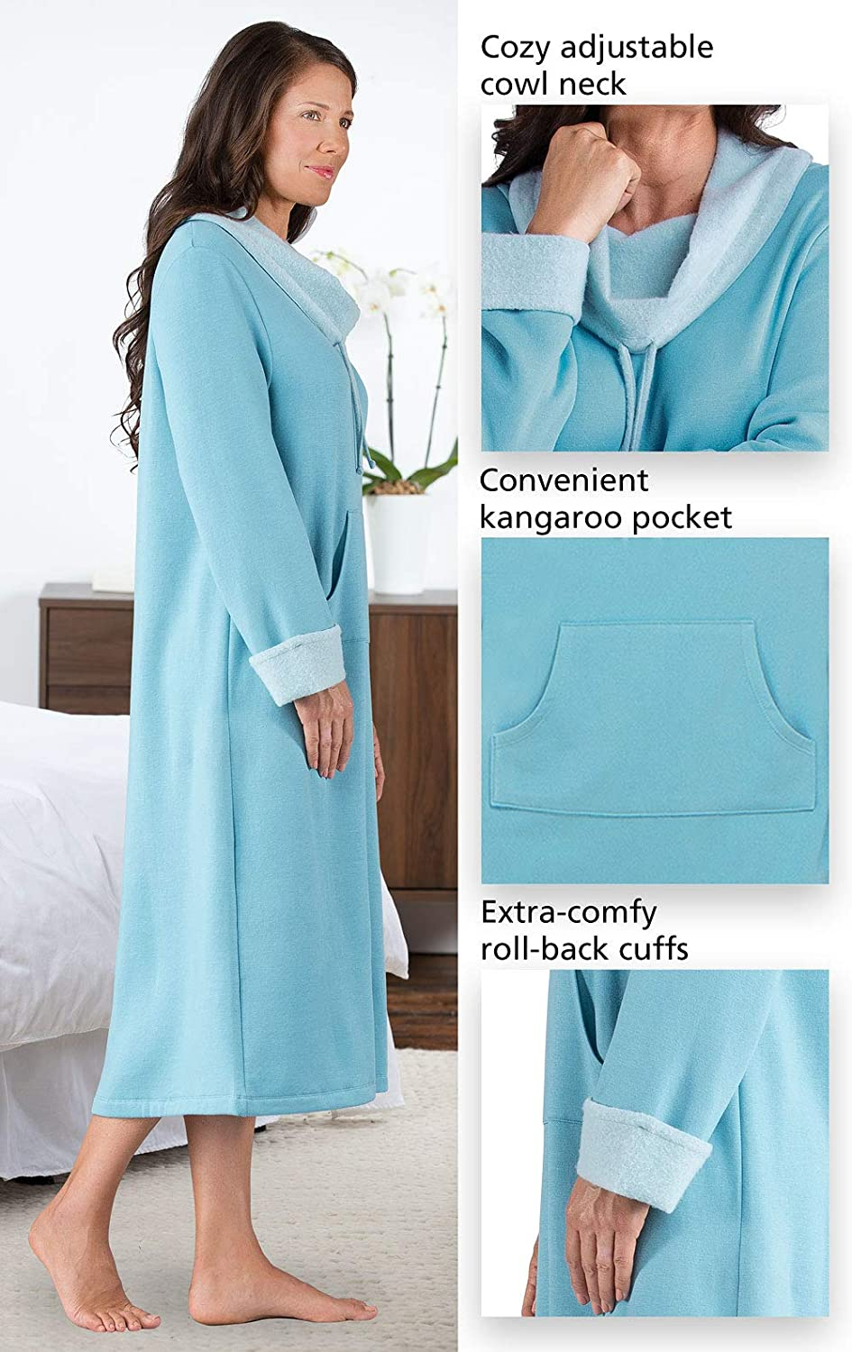 Long Sleeve Nightgown GAMV06009 PajamaGram Soft Nightgowns for Women