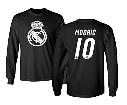 san francisco e5f61 2d250 KING THREADS Real Madrid Luka Modric #10 Jersey Shirt Soccer Football Men's  Long Sleeve T-Shirt