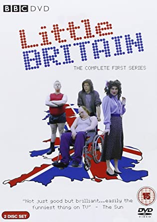 Picture of BBCDVD 1625 Little Britain - Limited edition badges by artist David Walliams / Matt Lucas from the BBC dvds - Records and Tapes library
