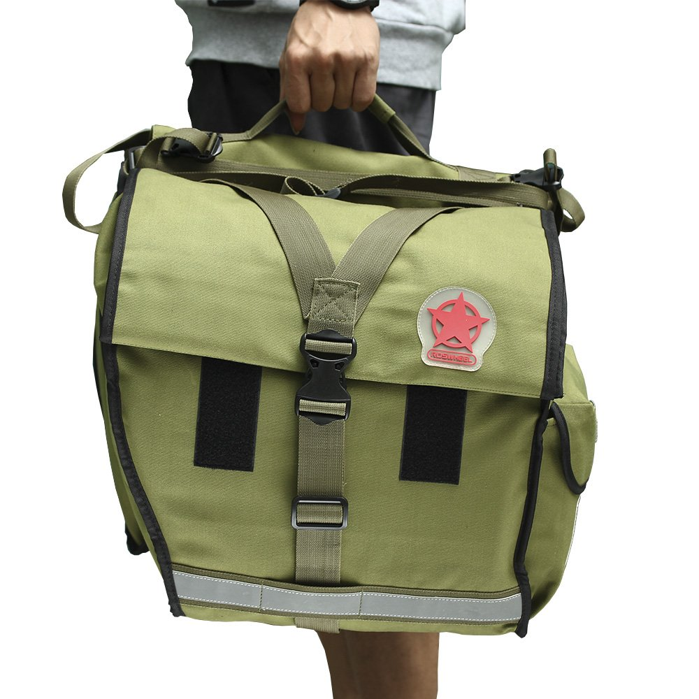 Roswheel 14686 Expedition Series Bike Rear Rack Bag Bicycle Double Panniers Cargo Trunk Bag by Roswheel (Image #10)