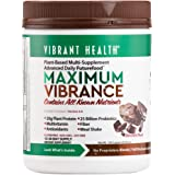 Vibrant Health - Maximum Vibrance Chocolate, All in One Multi-Supplement Advanced Daily Futurefood, 15 servings