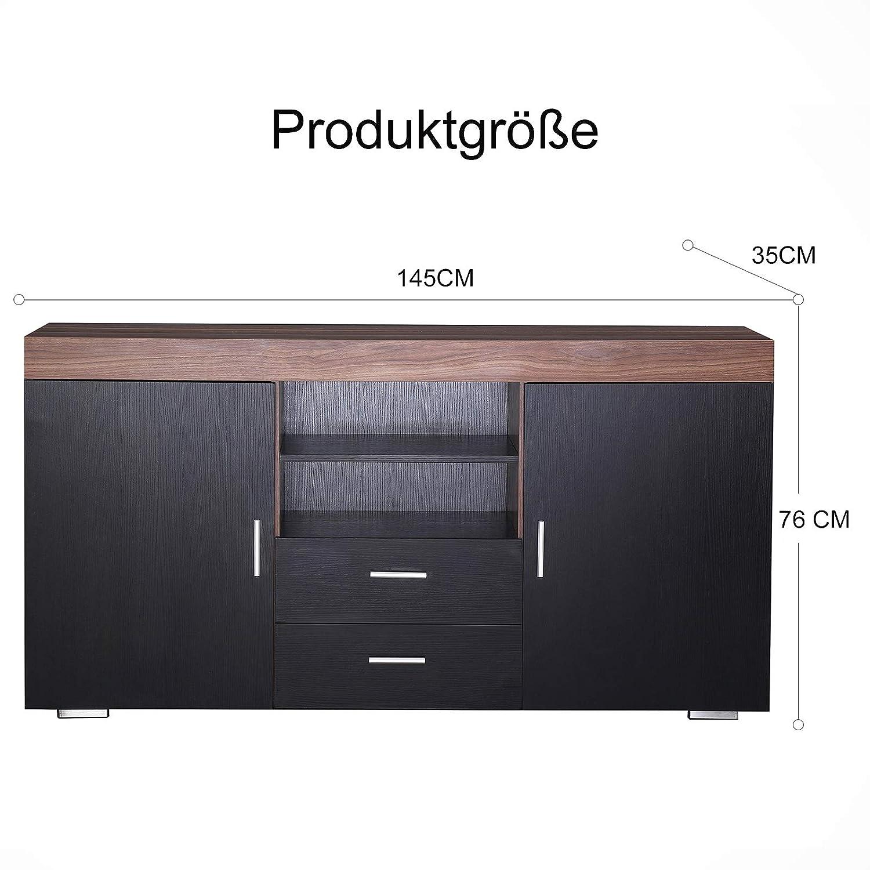 10 Schubladen Wohnzimmermöbel Küchen Storage aus Holzwerkstoff in