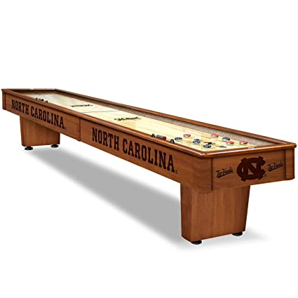 Genial NCAA Shuffleboard Table By Holland Bar Stool   UNC Tar Heels, Chardonnay    12ft