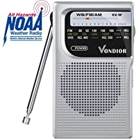 $29 Get NOAA Weather Radio - Emergency NOAA/AM/FM Battery Operated Portable Radio with Best…