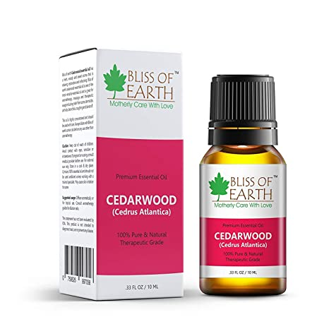 Bliss Of Earth 100% Pure Cedarwood Essential Oil, 10ml
