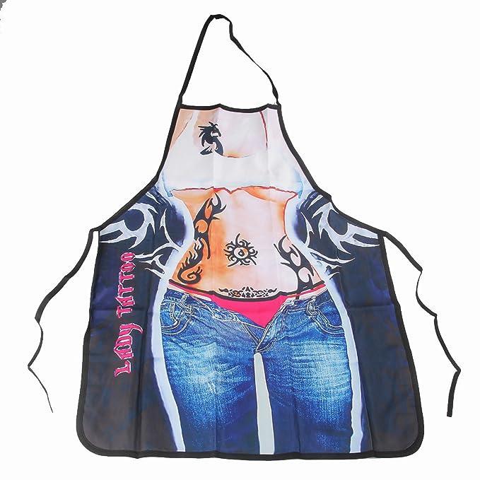 ABCTen Sexy Delantal de Cocina Barbacoa Regalo Divertido (Mujer ...