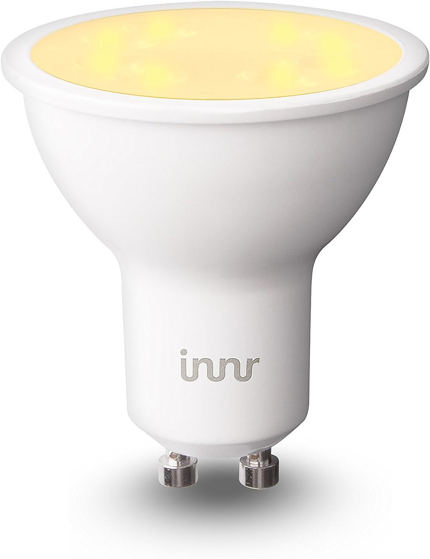 Innr GU10 LED spot, conectada, ajustable en blanco 2200K 5000K, compatible con Philips Hue* y Echo Plus, RS 128T