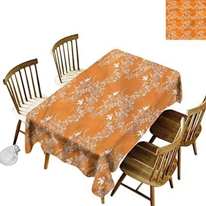 Stupendous Amazon Com Tim1Beve Spill Proof Table Cover Orange Home Remodeling Inspirations Genioncuboardxyz