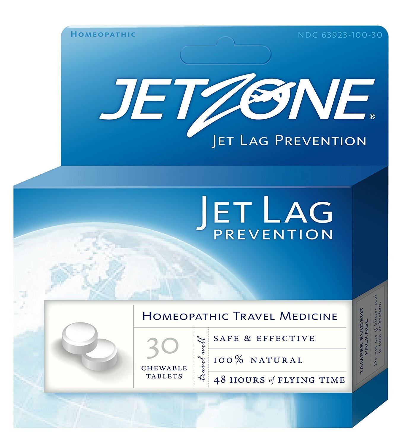 Global Source, JetZone, Jet Lag Prevention, 30 Chewable Tablets - 2pc