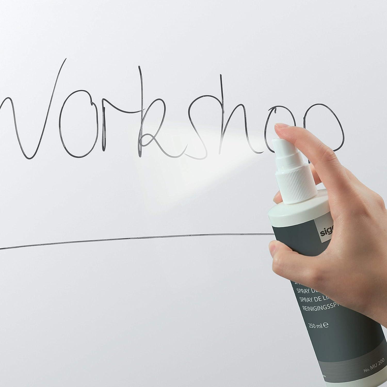 40x40 cm grau SIGEL MU202 Mikrofasertuch Reinigungstuch f/ür Whiteboard-Oberfl/ächen und Glas