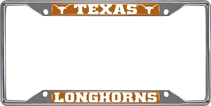 FANMATS NCAA University of Texas Longhorns Chrome License Plate Frame