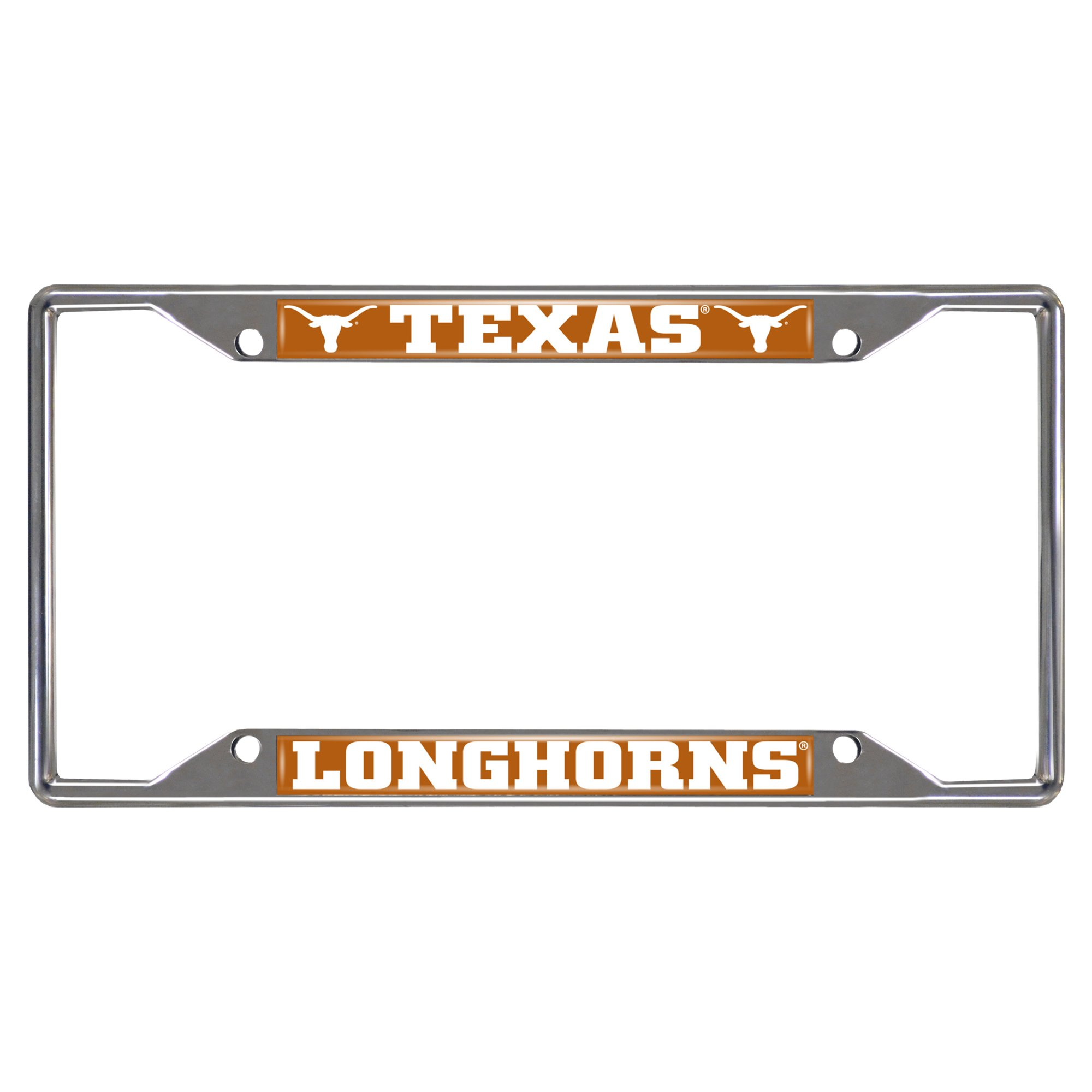 FANMATS  14826  NCAA University of Texas Longhorns Chrome License Plate Frame by Fanmats