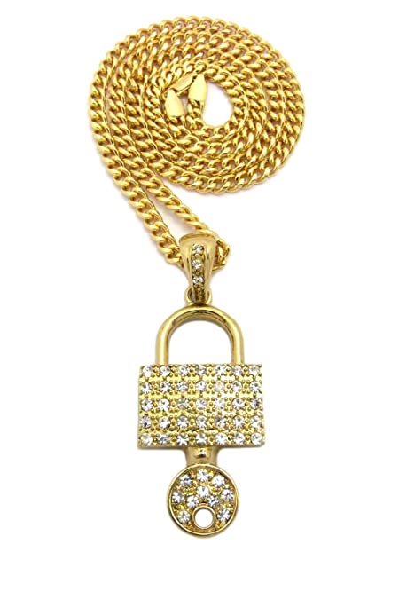 silver pendant img necklace white and amp lock plated key gold a