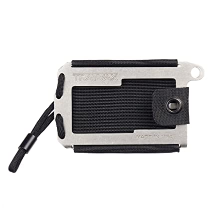 3fa711a4ff07 Image Unavailable. Image not available for. Color  Trayvax Axis Wallet  (Tumbled Stainless)