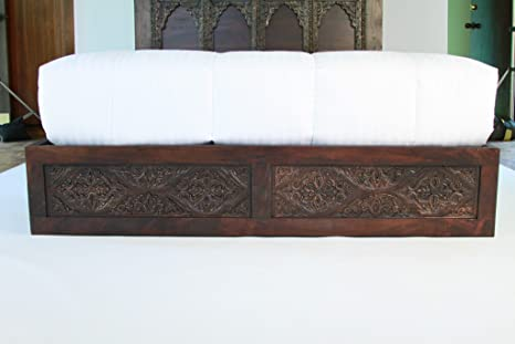 designer fashion 6b246 04262 Amazon.com: Carved Bed Frame, Handmade in India from Solid ...