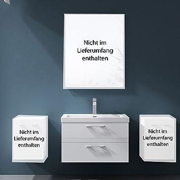 Meuble de salle de bains ensemble en blanc brillant for Amazon lavabos