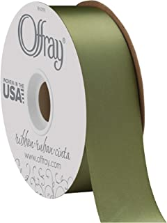 """product image for Offray Berwick 1.5"""" Single Face Satin Ribbon, Moss Green, 50 Yds"""