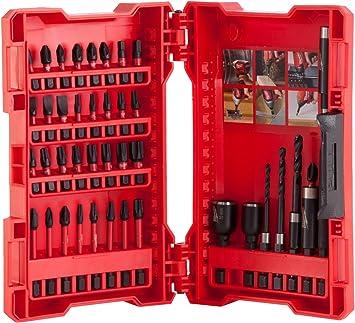 Milwaukee 4932430908 Shockwave Drill/Screwdriver Bit Set - Red (40-Piece)