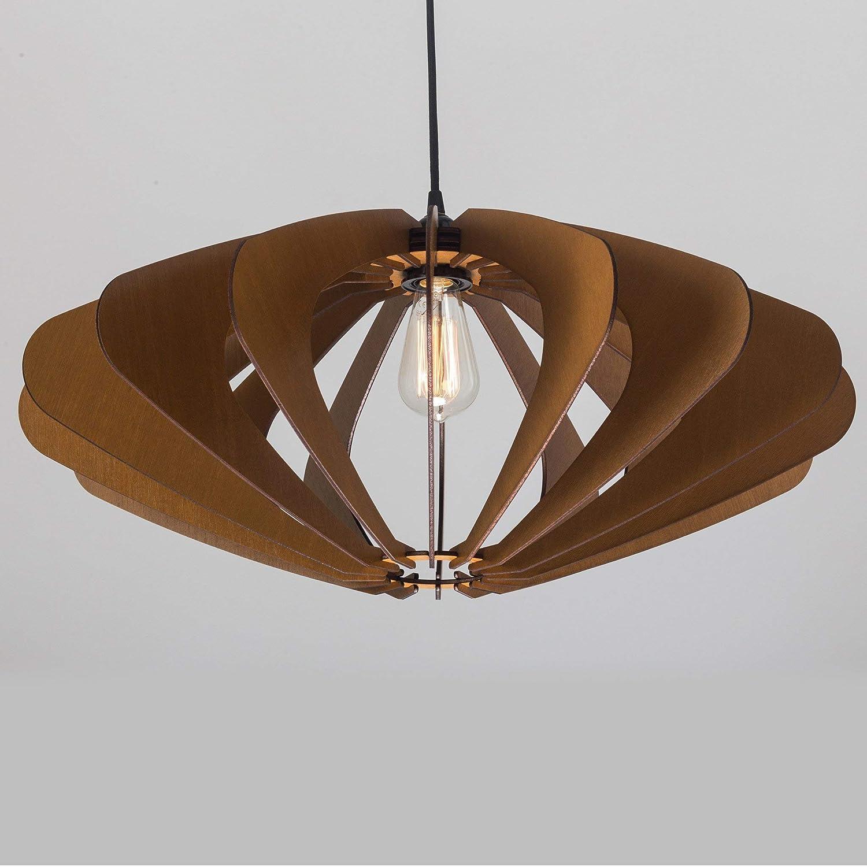 Modern Chandelier Lighting Hanging Dining Lamp Minimal Wood Pendant Light Ceiling Light Fixture Contemporary Geometric Lamp