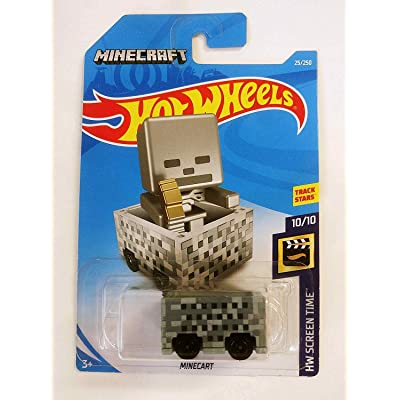 Hot Wheels 2020 HW Screen Time Minecraft Minecart 24/365: Toys & Games
